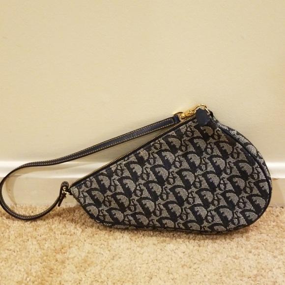 Dior Handbags - Christian Dior Blue Monogram Canvas Saddle Bag 7f1080d51cbe3